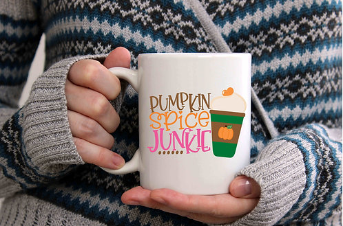 Pumpkin Spice Junkie Coffee Mug-15oz