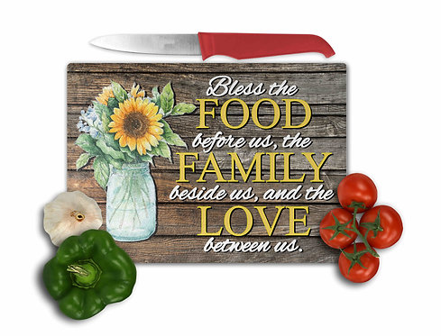 Bless the Food Before Us Cutting Board- 8x11