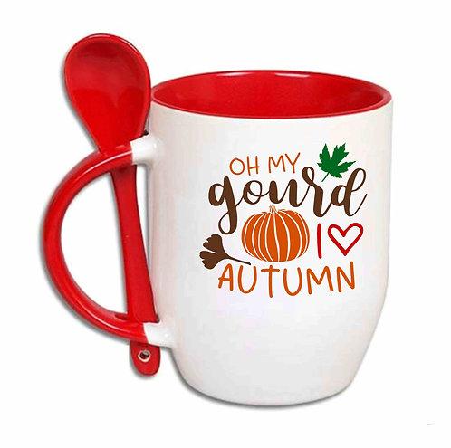 Oh My Gourd I Love Autumn 10oz Spoon Mug