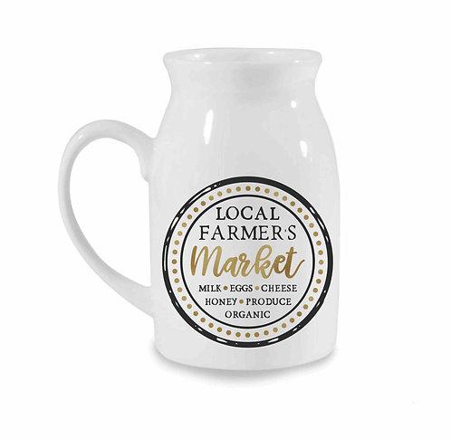 Local Farmers Market 10oz Milk Jug