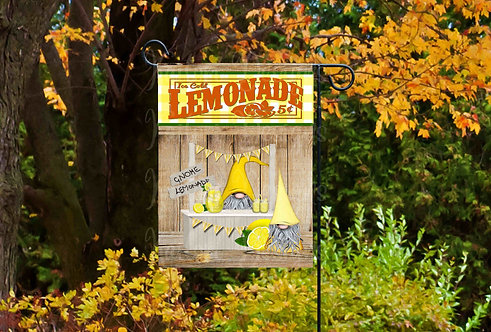 Gnome Lemonade Stand Garden Flag Sublimation Design