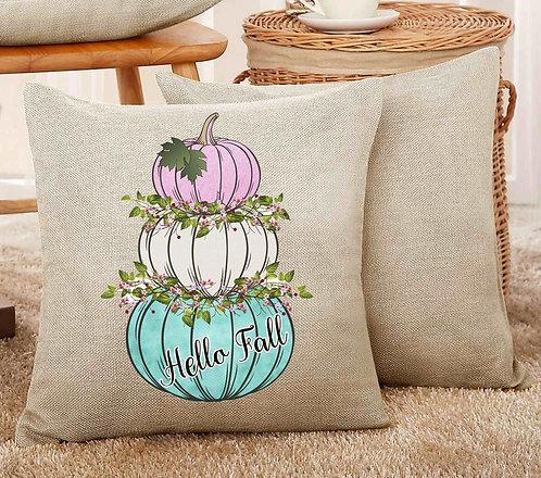 Hello Fall Pumpkins Pillow 18x18