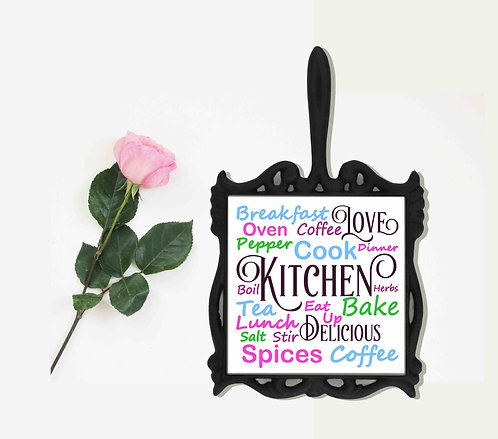 Kitchen Subway Art Iron Trivet