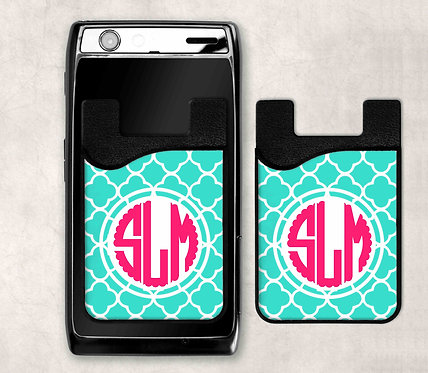 Personalized Cell Phone Card Caddy- Money Sleeve