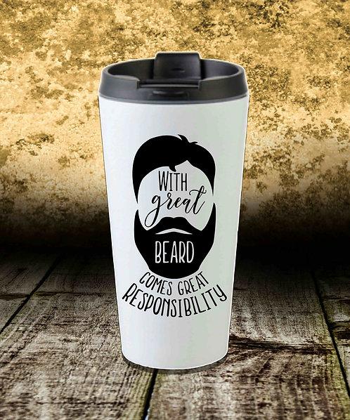 With Great Beard 16oz Travel Mug