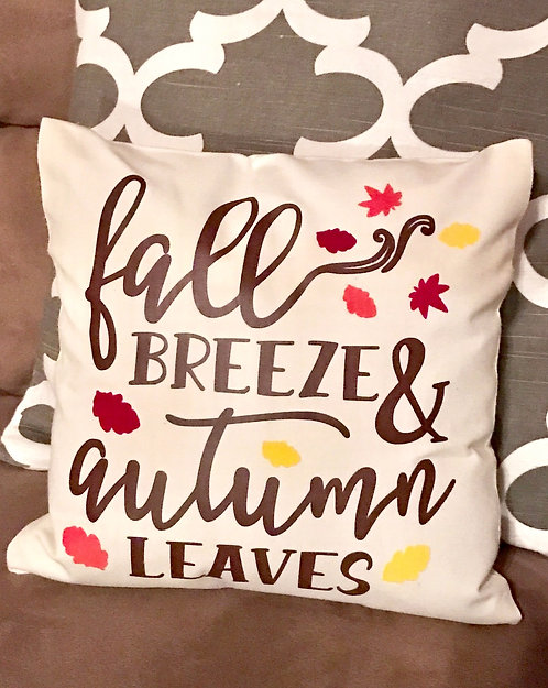 Fall Breeze & Autumn Leaves Pillow Cover-