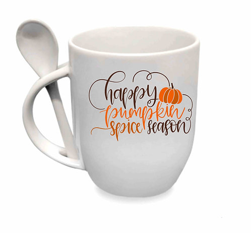 Happy Pumpkin Spice Season 10oz Spoon Mug