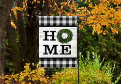 HOME boxwood buffalo plaid mockup