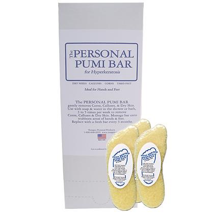 Foot Shaped Personal Pumi Bar - Box of 24