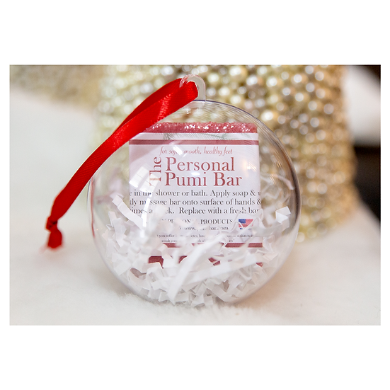 holiday ornament with pumi bar