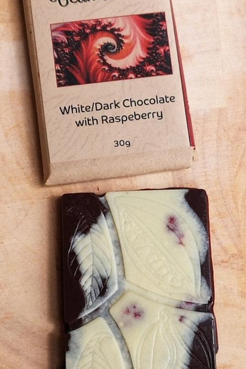 Bean to Bar White/Dark Raspberry
