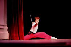 Straight sword performance