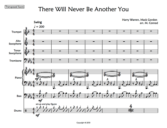 There Will Never Be Another You (septet)