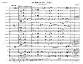 """In a Sentimental Mood"" arr. Mike Conrad"