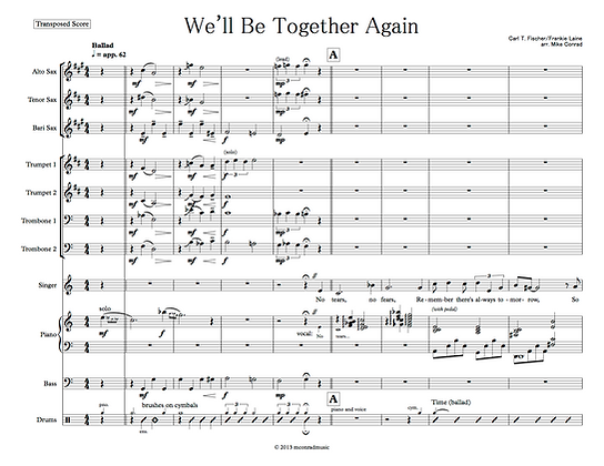 We'll Be Together Again (vocal feature)