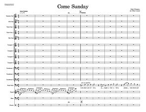 """Come Sunday"" arr. Mike Conrad"
