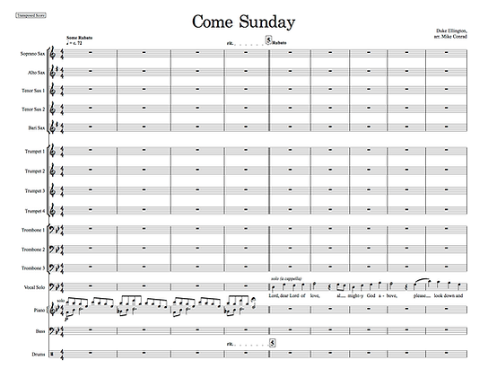 Come Sunday (vocal feature)
