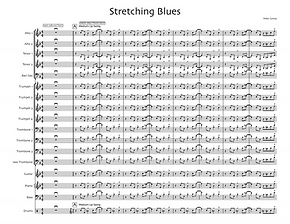 """Stretching Blues"" by Mike Conrad"