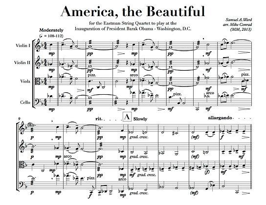 America, The Beautiful (string quartet)