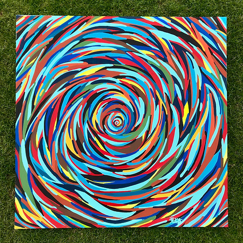 "The Rabbit Hole (36"" x 36"")"