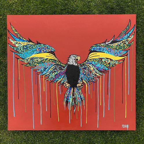 """Eagle (36"""" x 40"""")"""