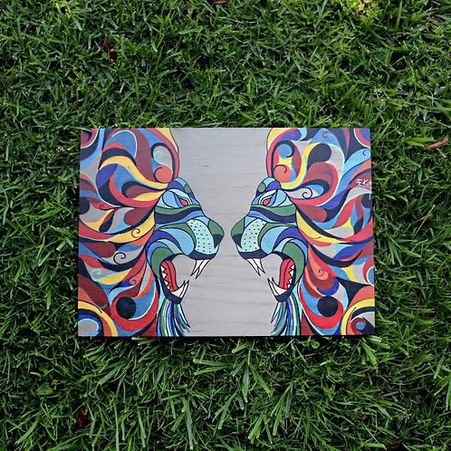 Lions (Print on Wood)