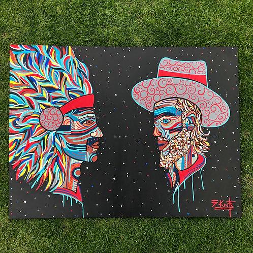 "Cowboys & Indians (36"" x 48"")"
