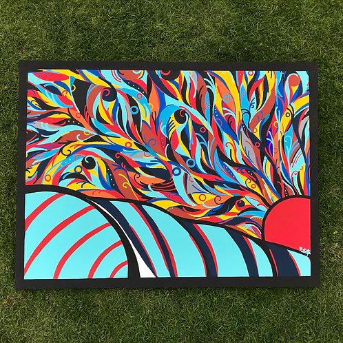 """Sun & Sea (36"""" x 48"""")"""