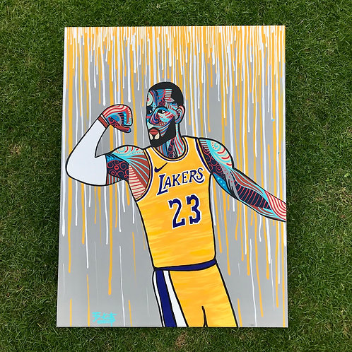 "LeBron James (30"" x 40"")"