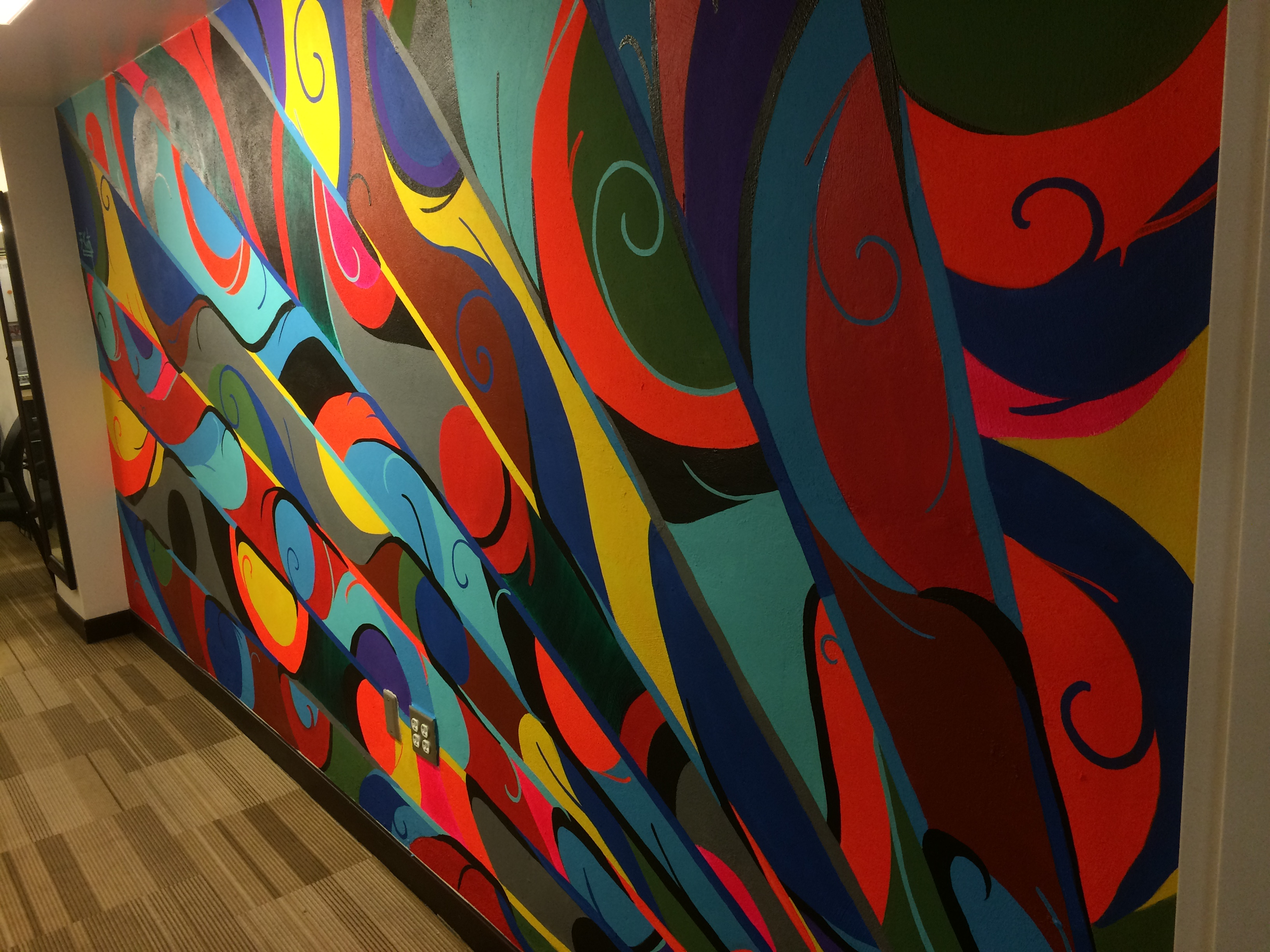 Andaz San Diego Sales Office Mural