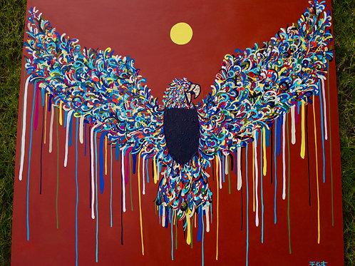 """Rise like a Phoenix (36"""" x 40)"""