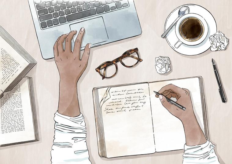 Netflix Illustration - Script Writer