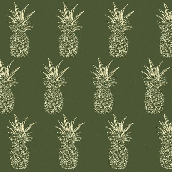 Pinepple Pattern, Green