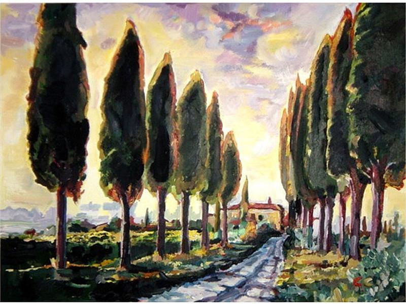 Tuscan Poplars