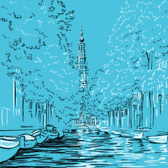 Groenburgwal Canal, Amsterdam