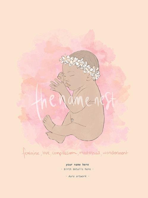 Aura baby artwork