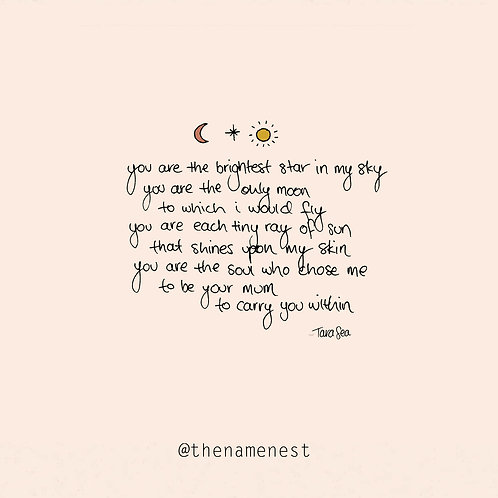 my star, my moon, my sun