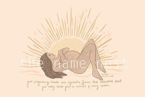 pregnancy lines - brown hair