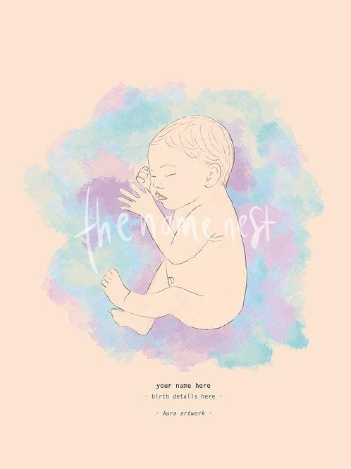 Aura baby artwork - custom colour