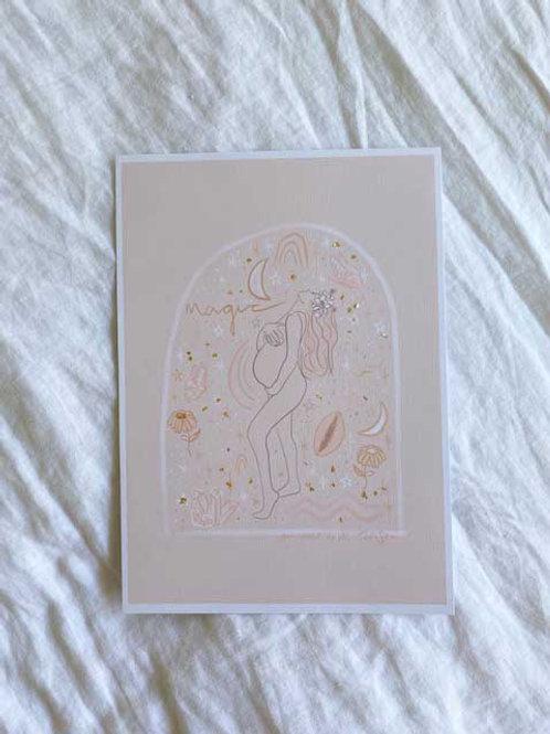 magic pregnancy - A4 printed artwork