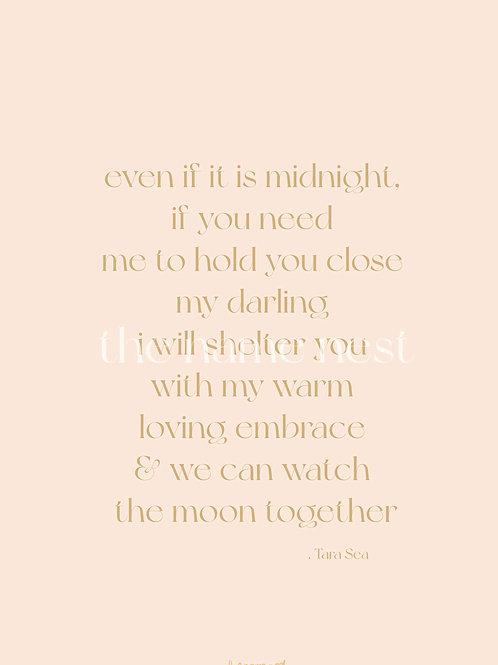 even if it is midnight - poem artwork