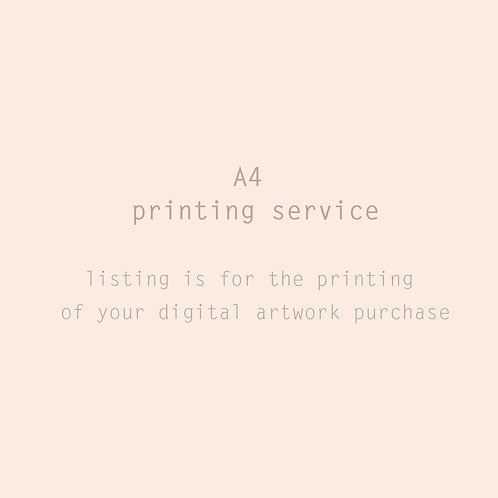 A4 Premium Printing service