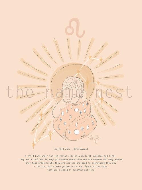 Leo - zodiac baby