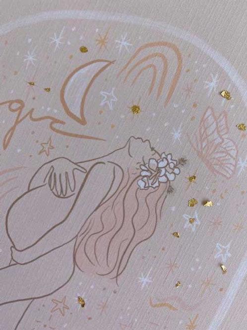 gold foil detailing - for printed artworks only