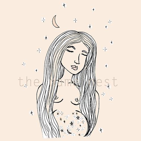 stardust in her belly