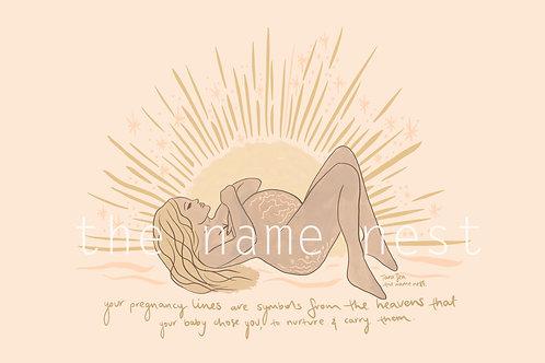pregnancy lines - blonde hair