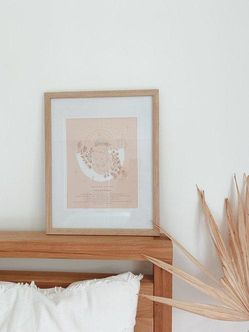 Framing + A4 printed artwork