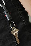 Black Magnetic Quick Release Keychain on Belt Loop