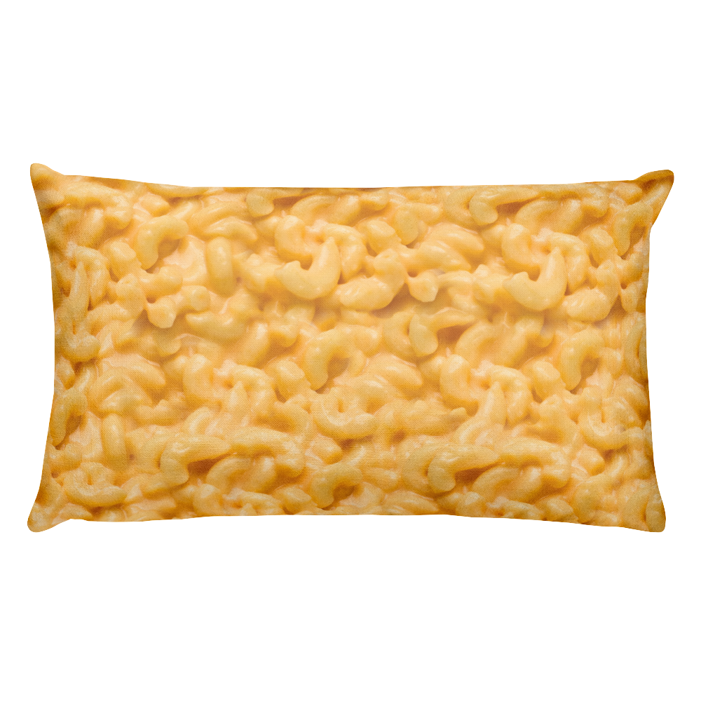 Gooey Mac N Cheese Pillow | Large Mac and Cheese Pillow