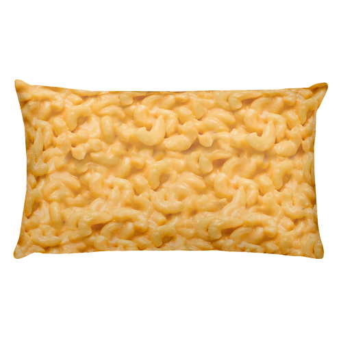 Gooey Mac 'N Cheese Pillow - Macaroni & Cheese Pillow - Large Rectangular Mac and Cheese Pillow